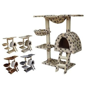 FoxHunter Cat Kitten Post Tree Scratcher Activity Centre Sisal Toy Bed CAT001