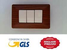 PLACCA LEGNO 3M COMPATIBILE CON BTICINO MATIX LEGNO