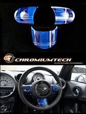 MINI Cooper R56 R57 R55 R58 R59 R60 R61 BLUE Tartan NON MF Steering Wheel Cover