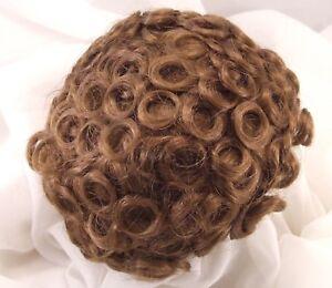 "Sz  13//14/"" Curly Auburn Doll Wig Baby Reborn OOAK Bisque Ceramic Repair FRANCIS"