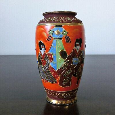 15cm Porzellan Vase China Handbemalt Vergoldet Top Zustand Modische Und Attraktive Pakete