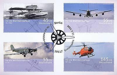 Analytisch Brd 2008: Luftfahrzeuge Nr 2670-2673 Mit Berliner Ersttagssonderstempel! 1a! 159 Preisnachlass