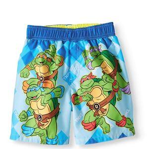 Size Boy Mutant Nickelodeon bagno Ninja Pantaloncini da Turtles 5t da bagno Teenage 4q1xqwv
