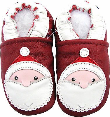 carozoo elephant dark red 4-5y soft sole leather kids shoes