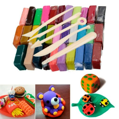 32 Blocks PVC Polymer Clay Set Colorful DIY Modelling Moulding Sculpey Tool set