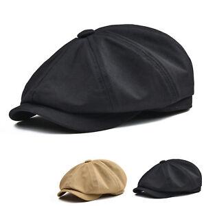 2c2193f3056 Details about COTTON TWILL GATSBY CAP NEWSBOY IVY DRIVING HAT GOLF CABBIE MEN  BLACK KHAKI V1