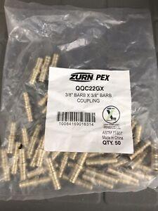 ZURN-PEX-QQC22GX-Coupling-Low-Lead-Brass-3-8-034-Pipe-Bag-Of-50-Pcs