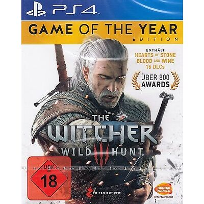The Witcher 3 - Wild Hunt - Game of the Year Edition GOTY + DLC PS4 - NEU & OVP