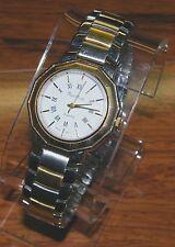 Pierre Nicol Gold Toned & Silver Stainless Steel Unisex Quartz Dress Wrist Watch