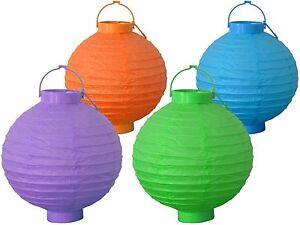 LED-Papierlaternen-Lampions-Partybeleuchtung-Batteriebetrieb-versch-Farben