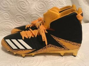watch f0c0f ff33c Image is loading Adidas-Freak-Carbon-Mid-Black-And-Gold-Cleats-