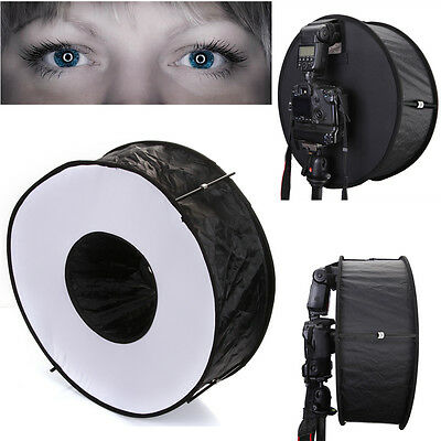 "18""/45cm Easy-fold Macro Ring Speedlite Flash Light Softbox Diffuser Reflector"