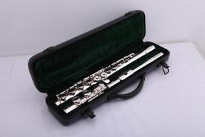Banda-Nuovo-di-Zecca-Silver-C-Flauto-approvato-con-custodia