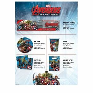 40-PIECE-SET-MARVEL-AGE-OF-ULTRON-AVENGERS-8X-CUPS-PLATES-LOOT-BAGS-NAPKINS