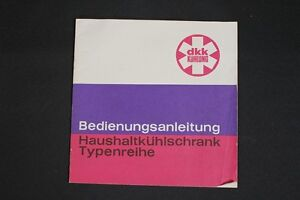 Old-GDR-Instruction-Manual-Household-Kuhlschranke-Refrigerator