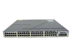 Cisco-WS-C3750X-48P-L-48-Port-10-100-1000-PoE-w-C3KX-NM-10G-1-Year-Warranty