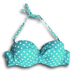 Apt-9-Women-039-s-Size-S-M-L-XL-Turquoise-Green-White-Polka-Dot-Swim-Bikini-Top-NEW