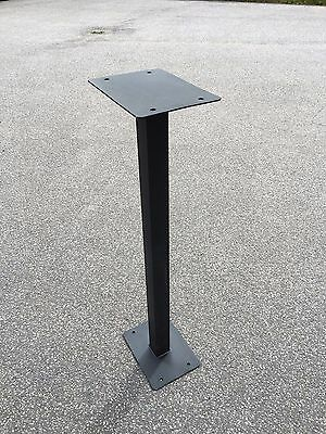 Royal mail post box stand in steel with powder coat finish post 85cm tall