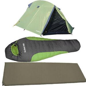 Schlafsack-Zelt-Isomatte-Camping-Trekking-1-2-Mann-Igluzelt-Motorrad-Biwak-2020
