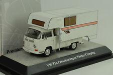 Volkswagen VW T2a Pritsche pick up Tischer Camping white 1:43 Premium classixxs