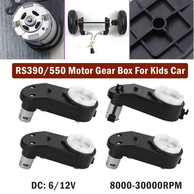 12V 35000RPM Electric Motor Gear Box For Electric Ride On Bike Car Toys /_UK