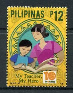 Filippine-2018-Gomma-integra-non-linguellato-Nazionale-Insegnanti-mese-1v-Set-di-Istruzione