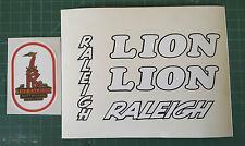 """Raleigh """"LION"""" retro/vintage bike decals/sticker set"""