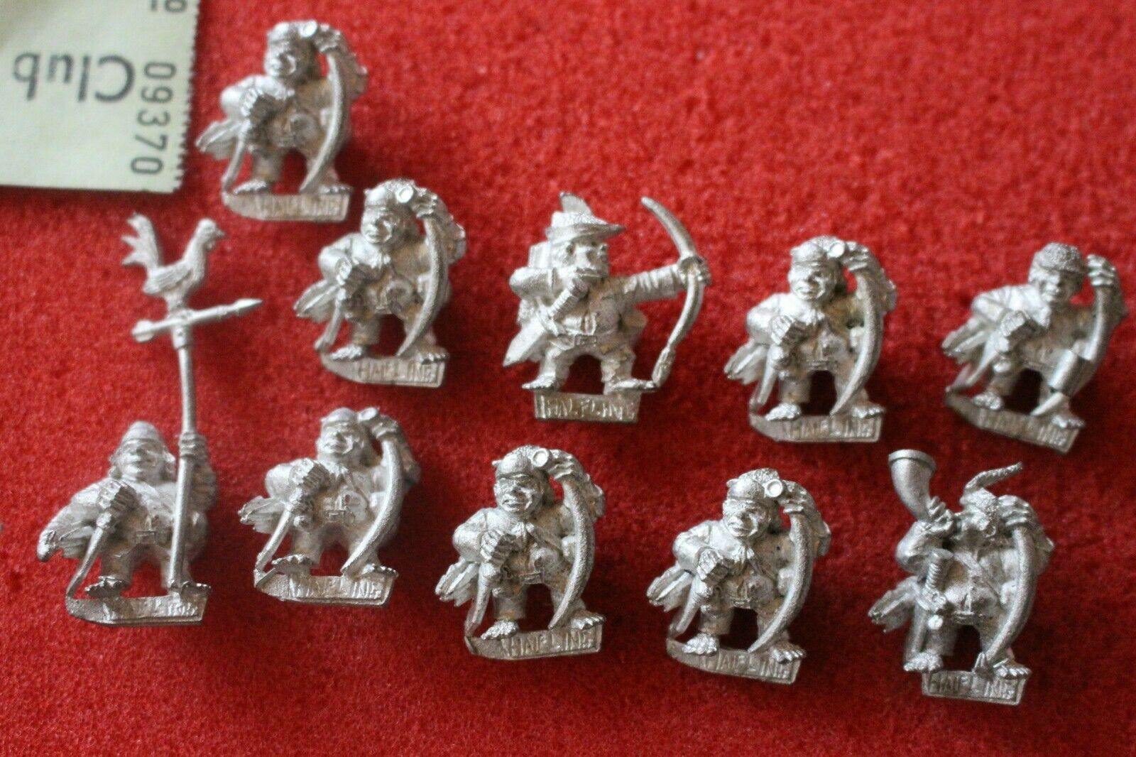 Games Workshop WARHAMMER Lumpin croops Halflings REGGIMENTO 10 FIGURE IN METALLO CANI