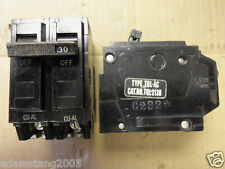 YI-213 * GENERAL ELECTRIC 2 POLE 30 AMP TYPE TQL-AC  CIRCUIT BREAKER  TQL2130