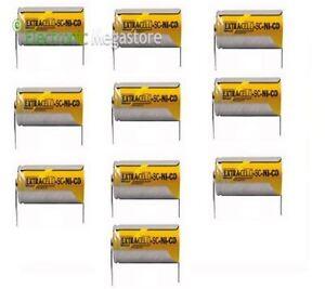 10-PEZZI-BATTERIA-RICARICABILE-NI-CD-SC-1-2V-2000mAh-22x42mm-A-SALDARE-30-307