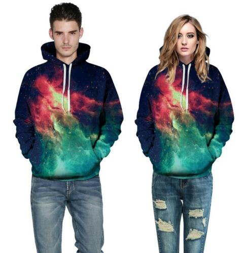 3D Graphic Starry Sky Casual Hoodies Print Sweatshirt Pullover Autumn Tops mans