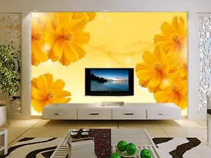 3D goldene Blütenblätter 45 Tapete Tapeten Mauer Foto Familie Tapete Wandgemälde