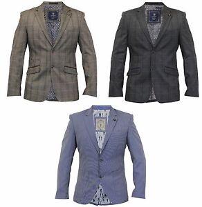 Mens-BRAND-NEW-Casual-Formale-Blazer-TRASMISSIONE-in-Grigio-Marrone-Azzurro-COLORI