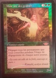 Muse-nee-des-Graines-PREMIUM-FOIL-VF-French-Legions-Seedborn-Muse-Magic-NM
