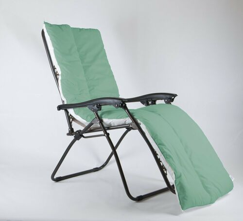 LUSH GREEN Anti Slip Sun Lounger Topper Cushion Summer Deck Chair Topper