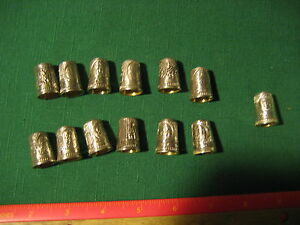 Vintage-Set-of-13-Franklin-Mint-Colonial-America-Sterling-Silver-Thimbles