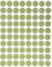 Olive Green Color Labels In Various Sizes 8mm 38mm 1 15 Sheets