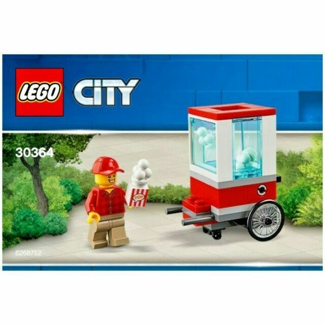 Lego City 30364 Popcorn Cart 43 Pcs Polybag New Sealed