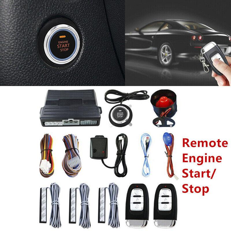 voiture SUV PKE Keyless Entry Engine Start Alarm System Push Button Remote Starter &