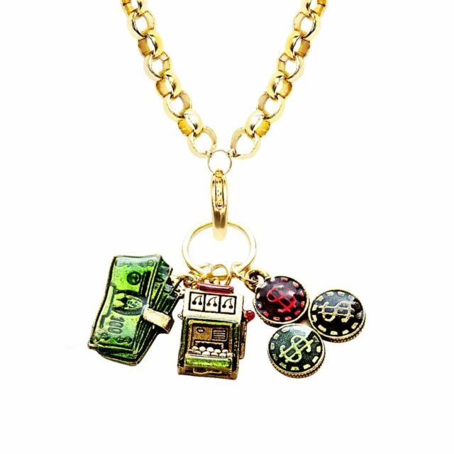 Whimsical Gifts Collection Rolo Chain Dog Lover Charm Necklace in Gold