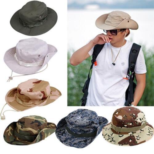 Fishing Hiking Boonie Snap Brim Military Bucket Sun Hat Cap Woodland Camo zac 02