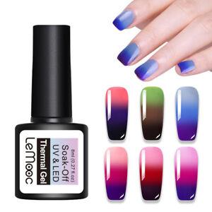 LEMOOC-8ml-Nagel-Gellack-Thermolack-Color-Changing-Soak-off-Nail-Art-Gel-UV