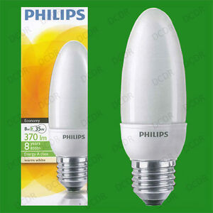 Image is loading 8W-Philips-Low-Energy-Power-Saving-CFL-Candle- & 8W Philips Low Energy Power Saving CFL Candle Light Bulbs E27 ES ... azcodes.com