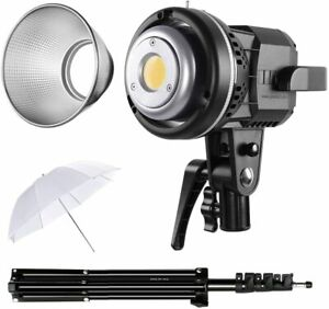 80W CRI97+ 5600K Dimmable LED Video Lights with Bowens Mount Kit Continuous