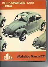 VOLKSWAGEN Beetle Bug 1955-1964 Workshop Manual 121 Roka new 36hp 1200 cc book