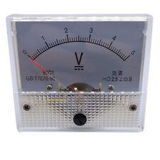 Us Stock Analog Panel Volt Voltage Meter Voltmeter Gauge 85c1 0 5v Dc