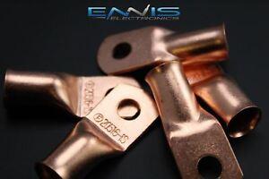 2/0 GAUGE COPPER 5/16 RING 5 PK CRIMP TERMINAL CONNECTOR AWG CAR EYE CUR20516