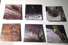 Robert BATEMAN 6 art cards Silent Witness Big Black Moose Grizzly with envelope
