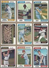 1974 74 Topps YOU PICK SINGLES FROM #1-660 ALL HIGH GRADE NEAR MINT OR BETTER
