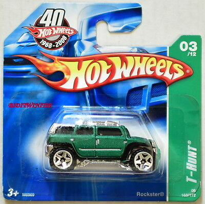 Auto- & Verkehrsmodelle Autos, Lkw & Busse Hot Wheels 2008 Normalgröße Schatzsuche Rockster #03/12 Green Short Karte-w